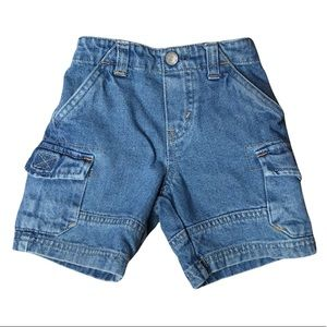 Levi's Jeans Baby 12 Month Denim Pull On Cargo Shorts